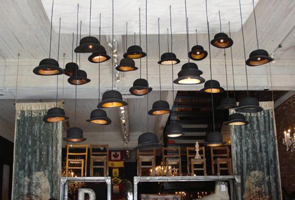 Bowler Hat Lamps