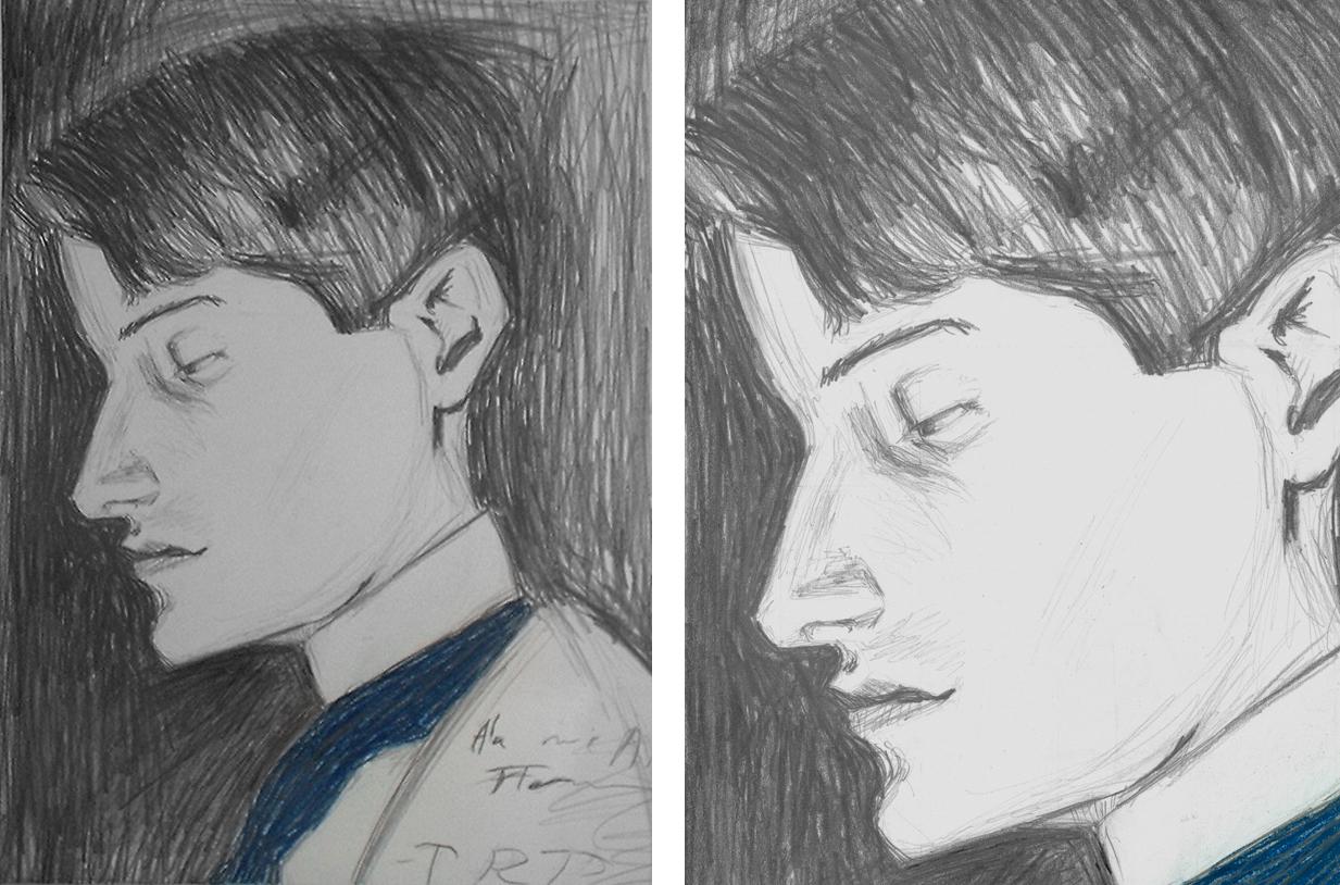 Picasso Master Study, graphite