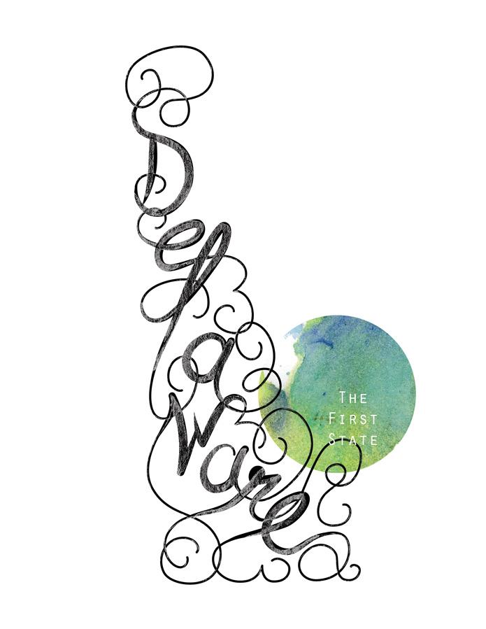 Calligraphic States - Delaware
