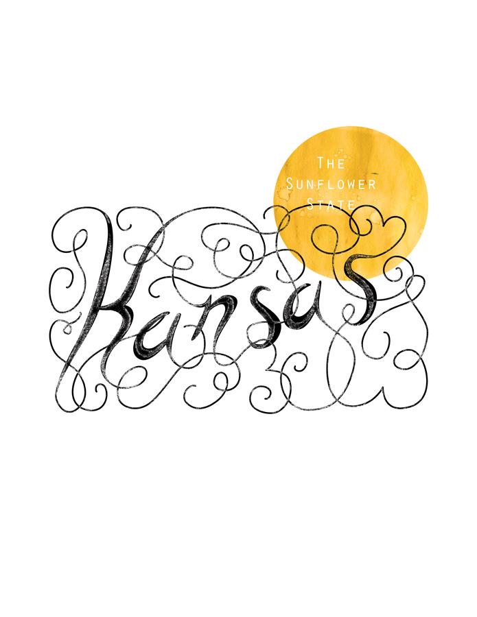 Calligraphic States - Kansas