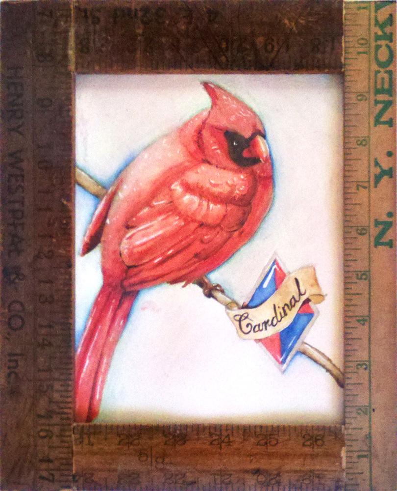 Birds and Rulers - Cardinal