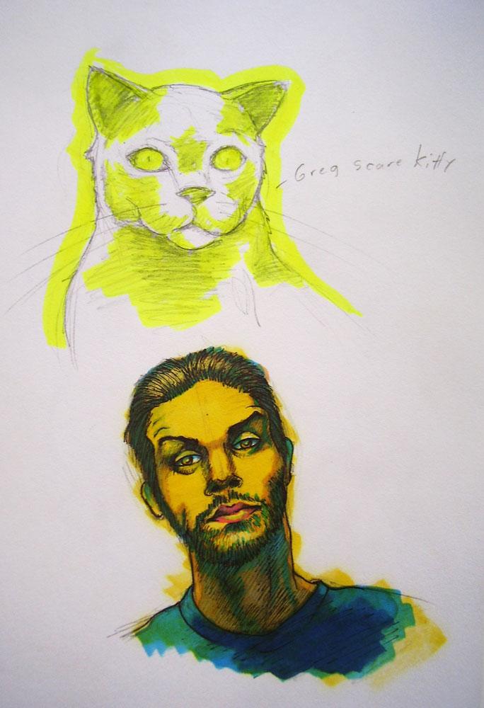 Greg Scares Kitty