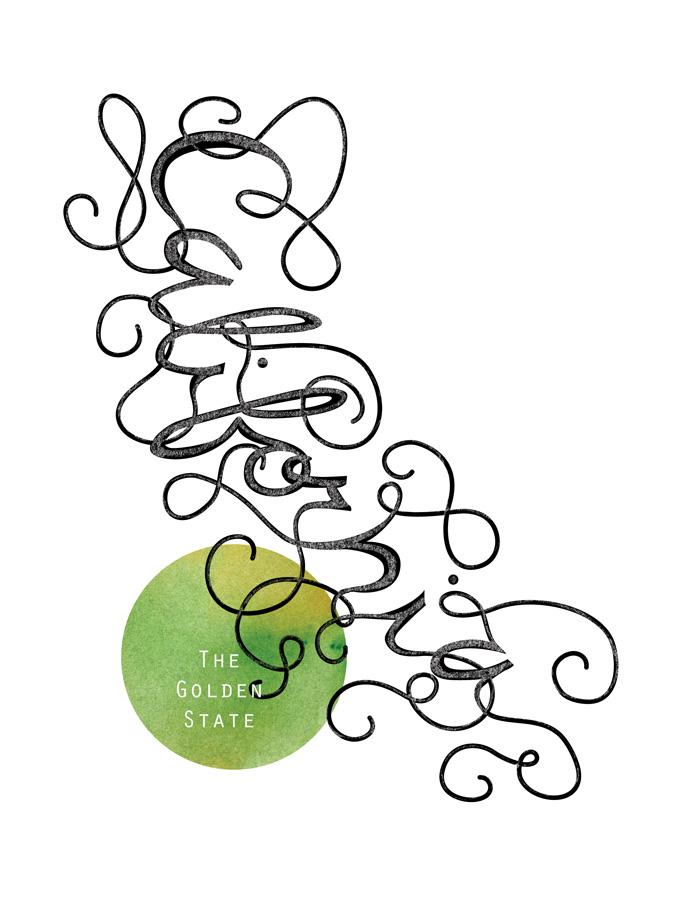 Calligraphic States - California