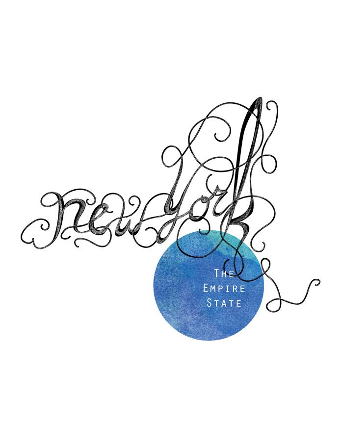 Calligraphic States - New York