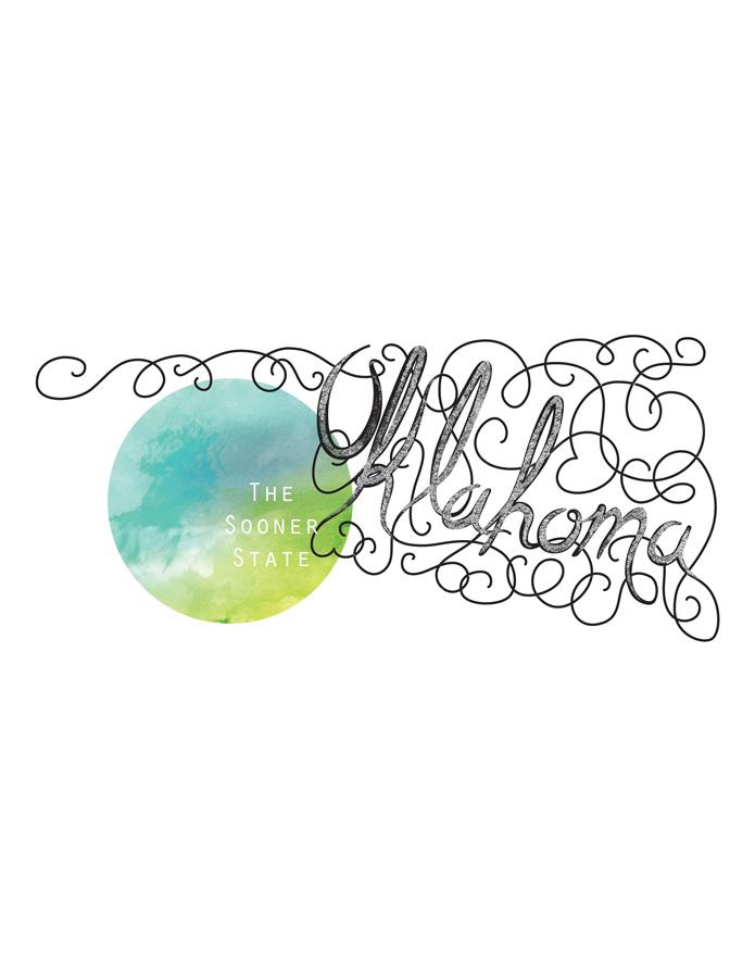 Calligraphic States - Oklahoma