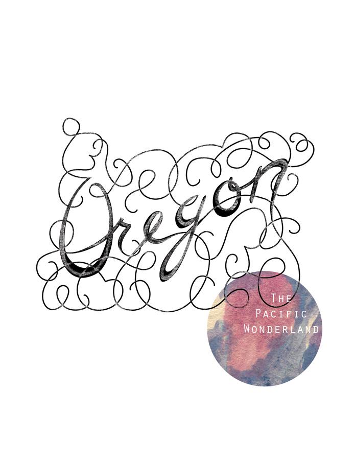 Calligraphic States - Oregon