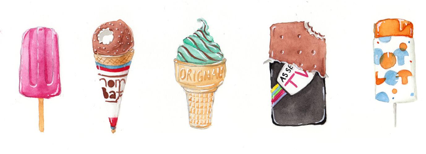 Ice Cream - Painted