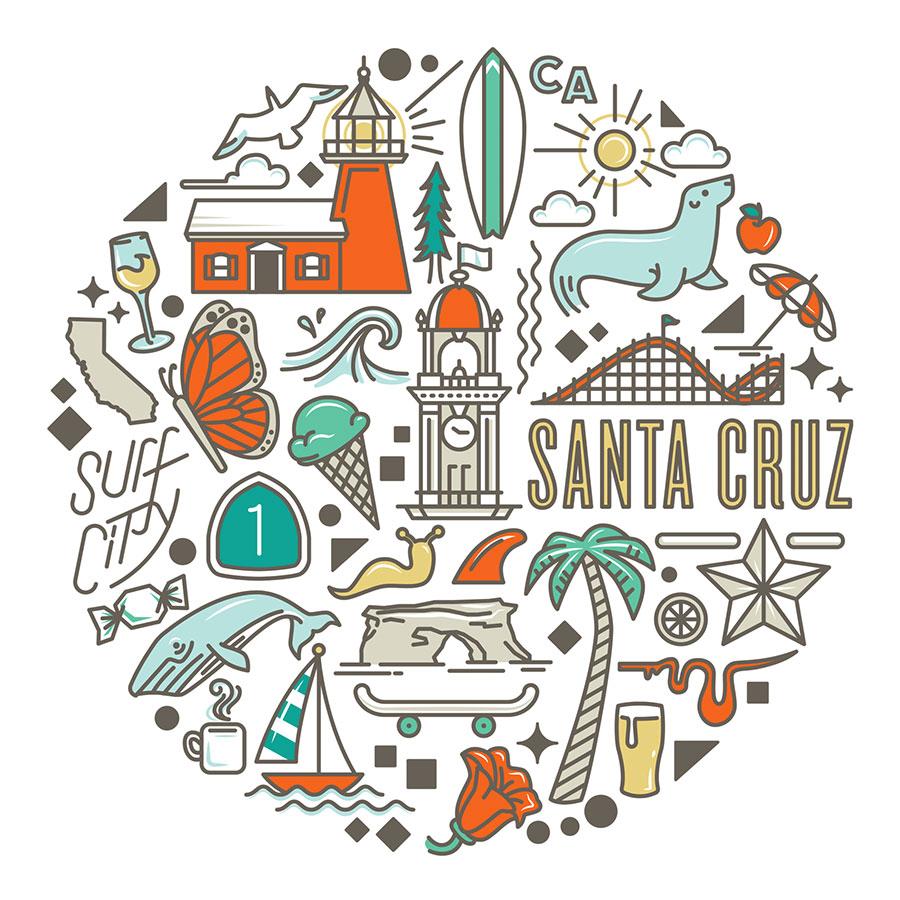 Santa Cruz Icons